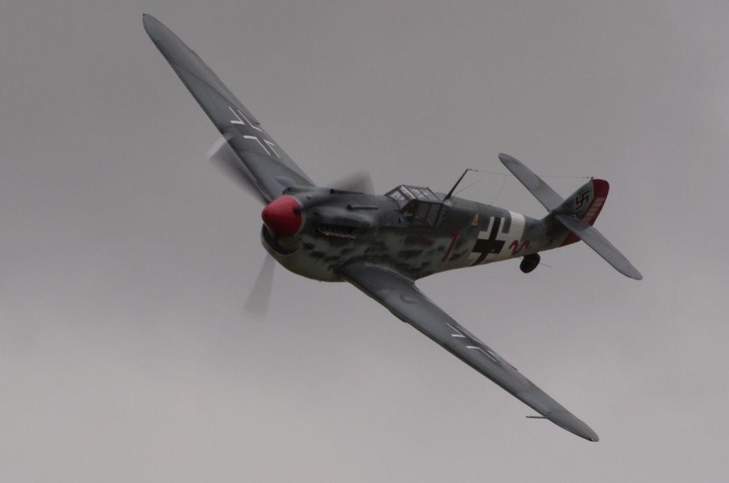German fighter Messerschmitt 2 World War wallpaper