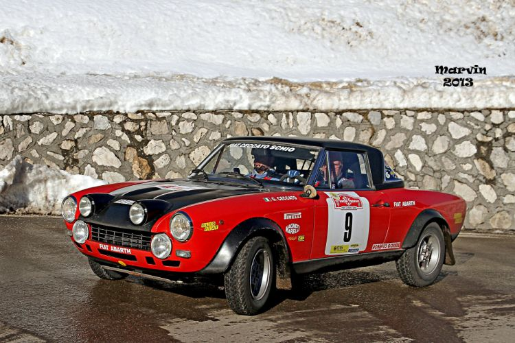 124 Abarth cars Fiat rally wallpaper