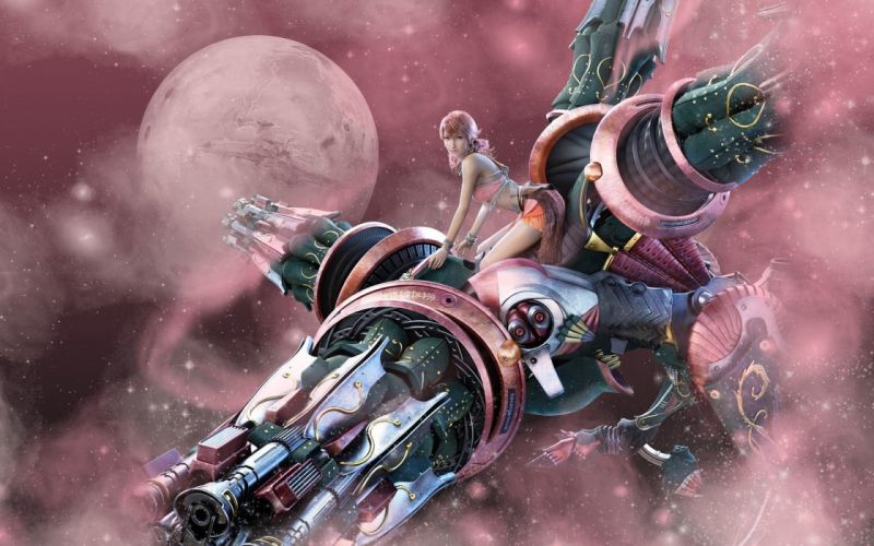 GAMES - Final Fantasy XIII pink girl wallpaper
