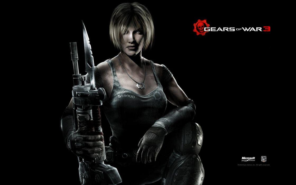 GAMES - Gears of War 3 PC game wide wallpaper