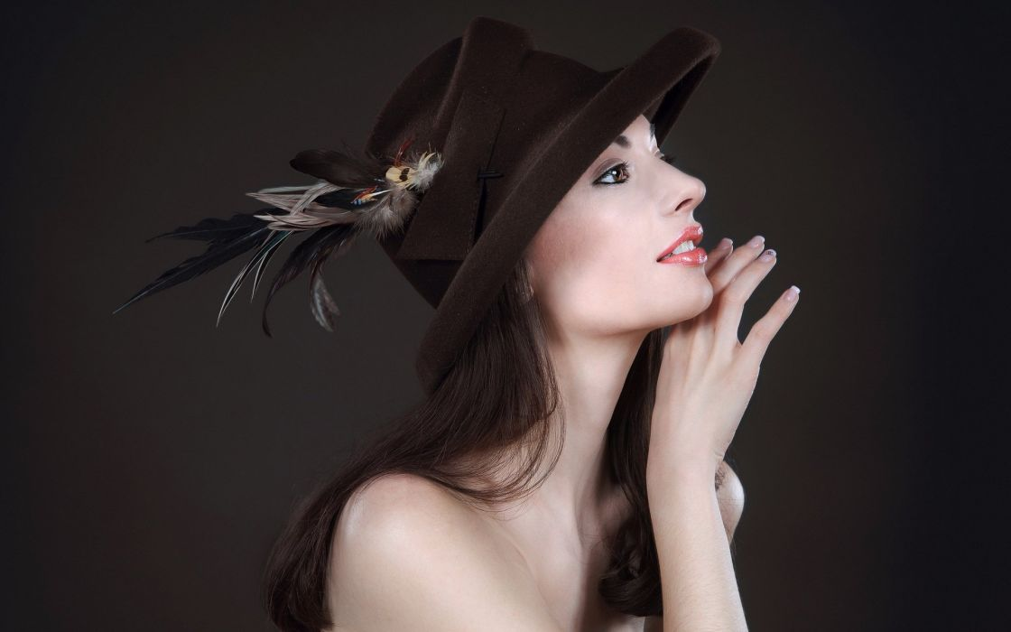 SENSUALITY - asian girl hat brunette charming wallpaper
