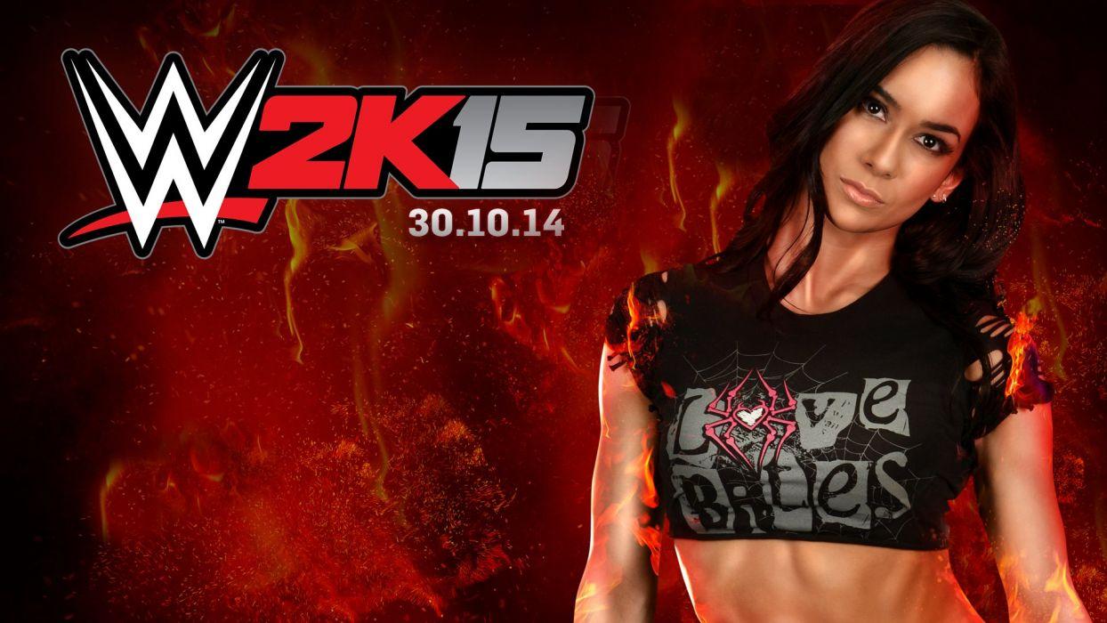 WWE 2K15 wrestling fighting action warrior sexy babe divas wallpaper