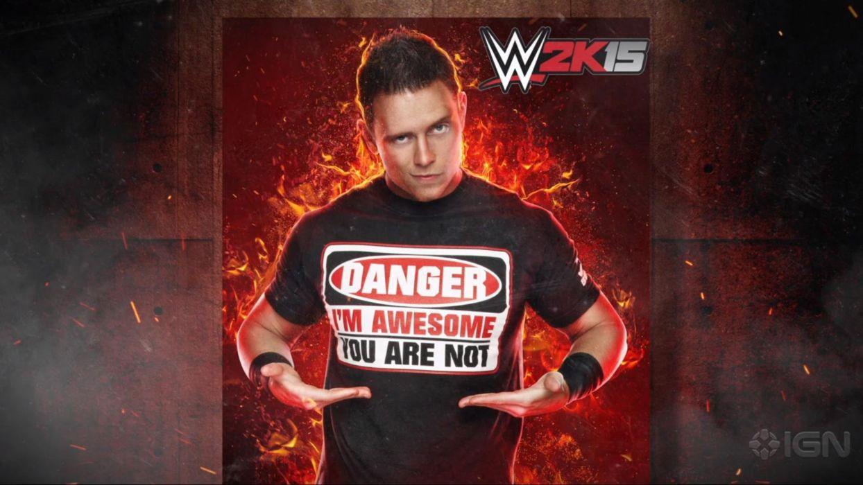 WWE 2K15 wrestling fighting action warrior poster wallpaper