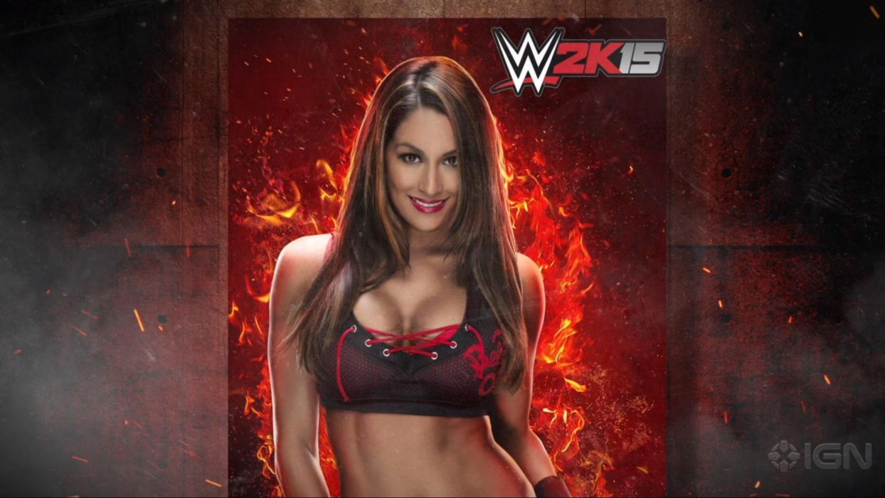 WWE 2K15 wrestling fighting action warrior sexy babe divas poster wallpaper