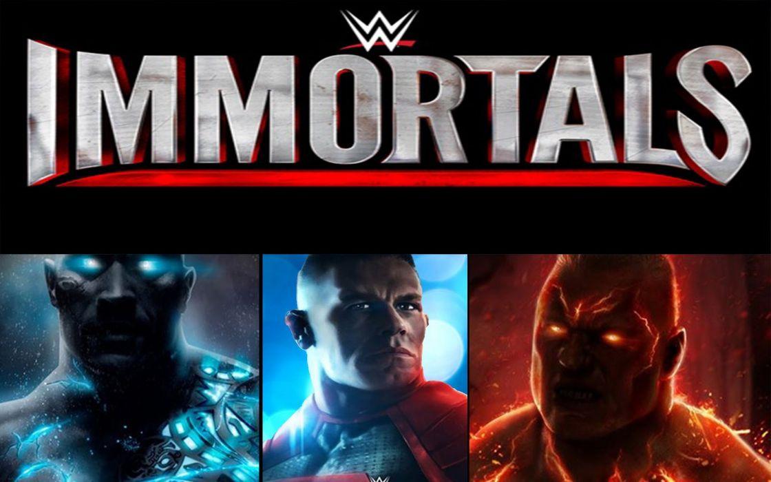 WWE IMMORTALS wrestling fighting action warrior poster wallpaper