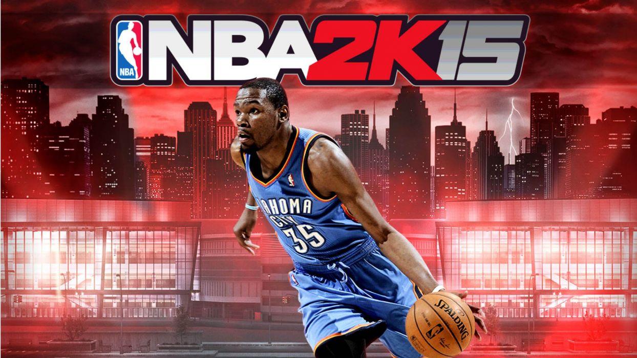 NBA 2K15 basketball sports action wallpaper