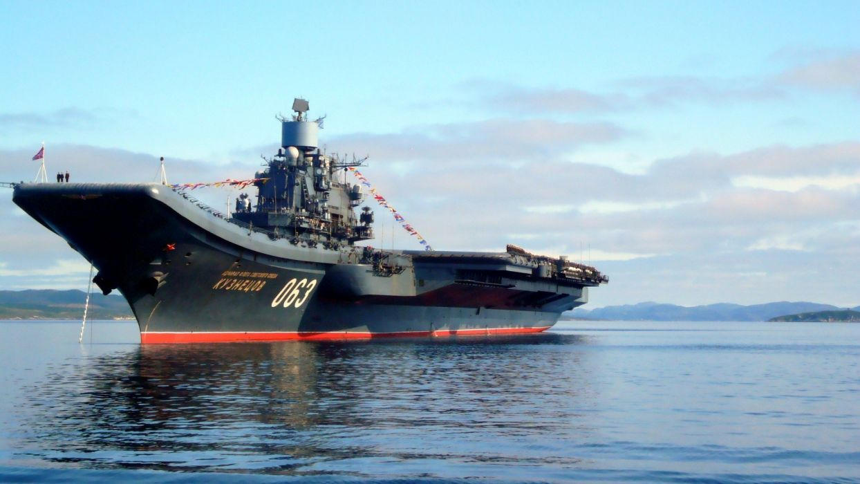 warship admiral kuznecov wallpaper