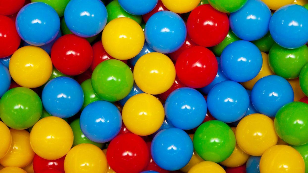 plastic colored balls wallpaper