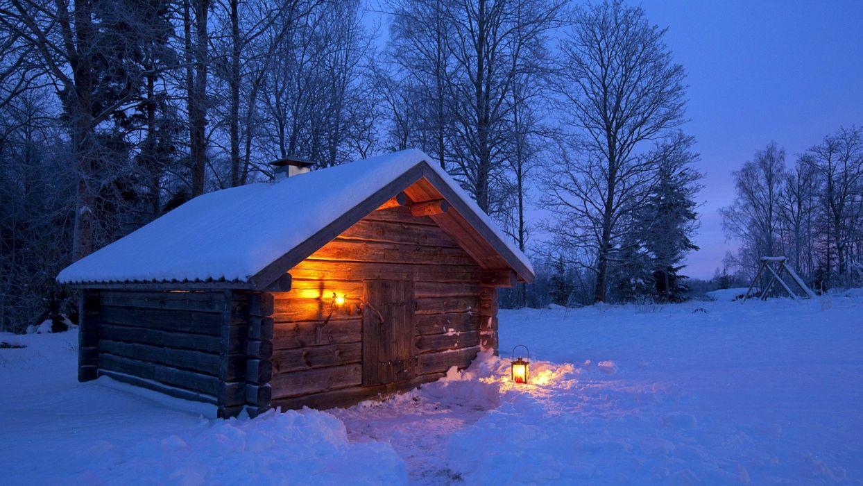 winter-landscape-night-sweden wallpaper