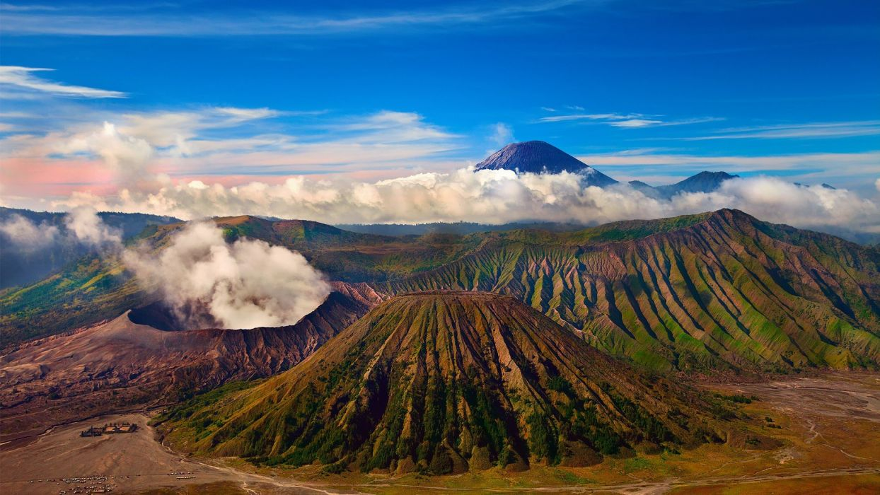 mountains Indonesia wallpaper