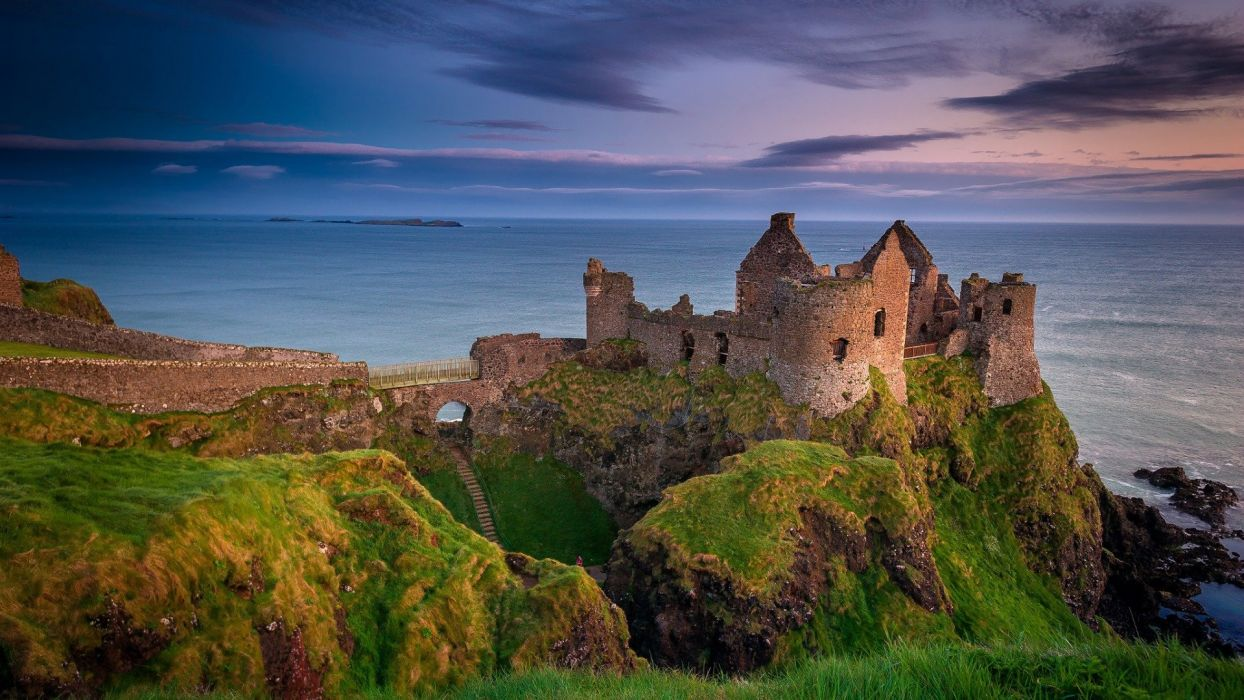 Northern Ireland County Antrim castle Danlos wallpaper