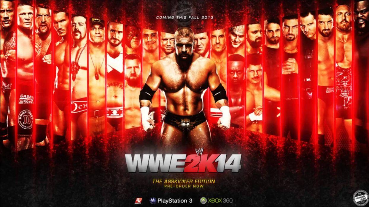 WWE 2K14 wrestling fighting action warrior wallpaper