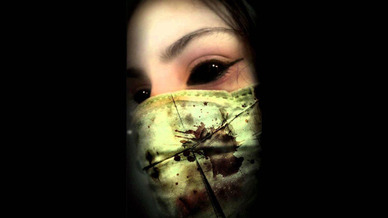 dark horror evil gothic eyes demon wallpaper