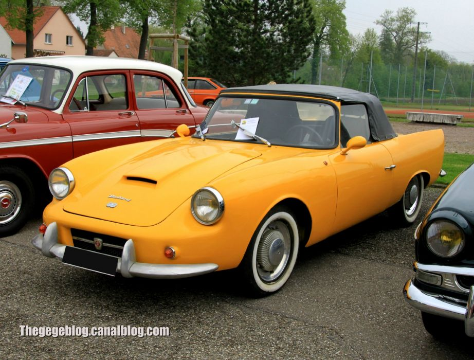 Panhard-DB le Mans classic convertible french wallpaper