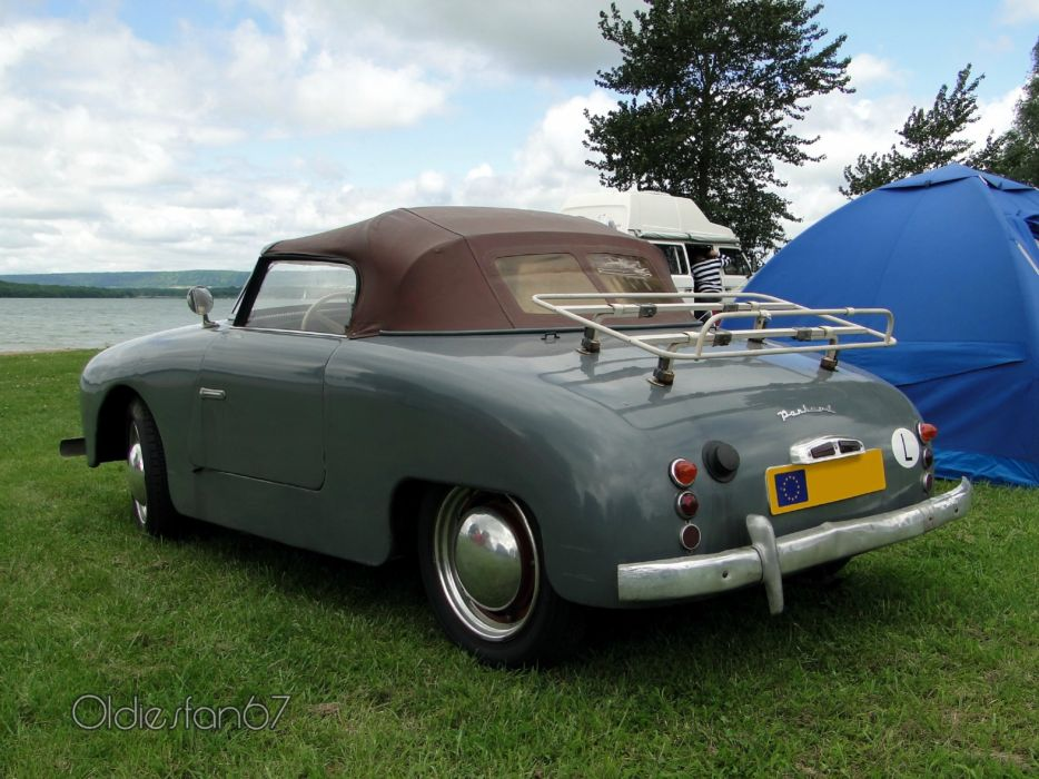Panhard dyna junior classic convertible french wallpaper