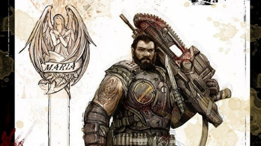 Gears of War 3 Dom sketch wallpaper
