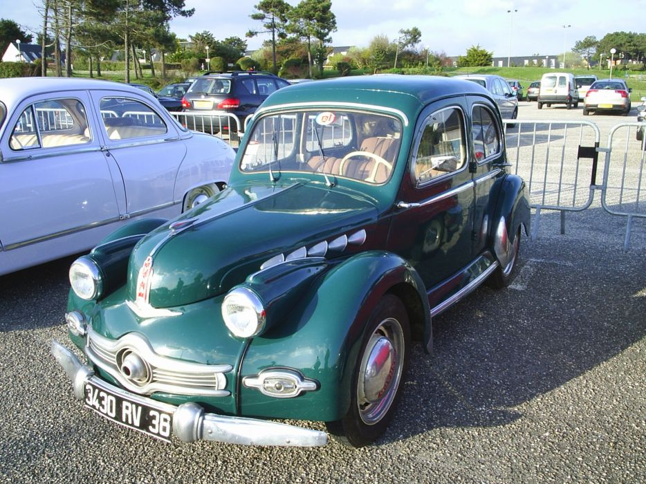 Panhard dyna x classic french wallpaper