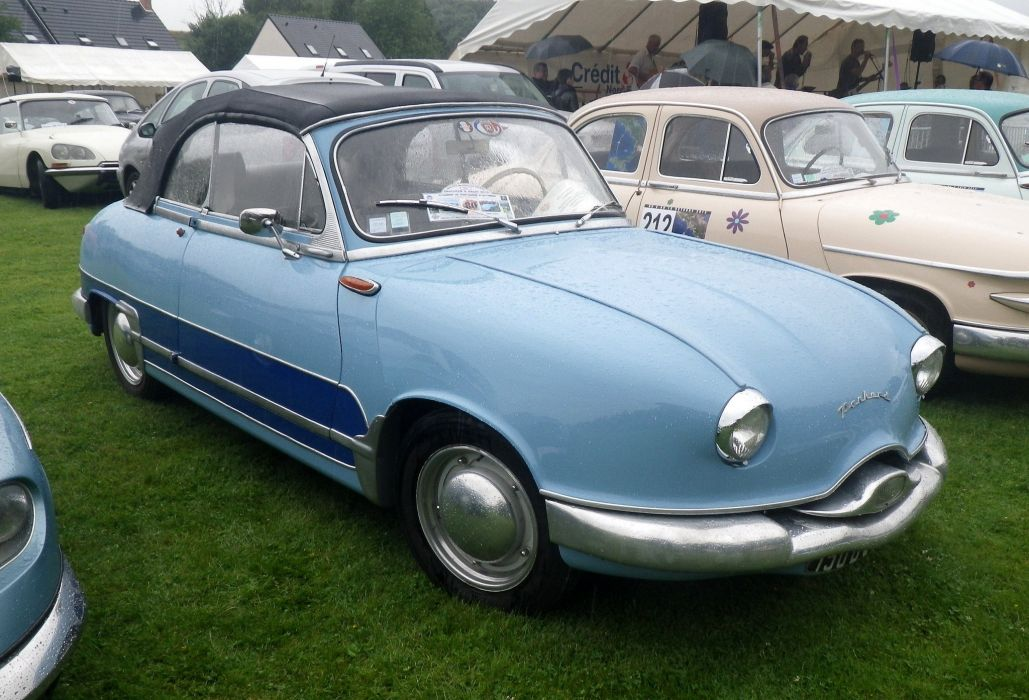 Panhard dyna z classic french convertible wallpaper