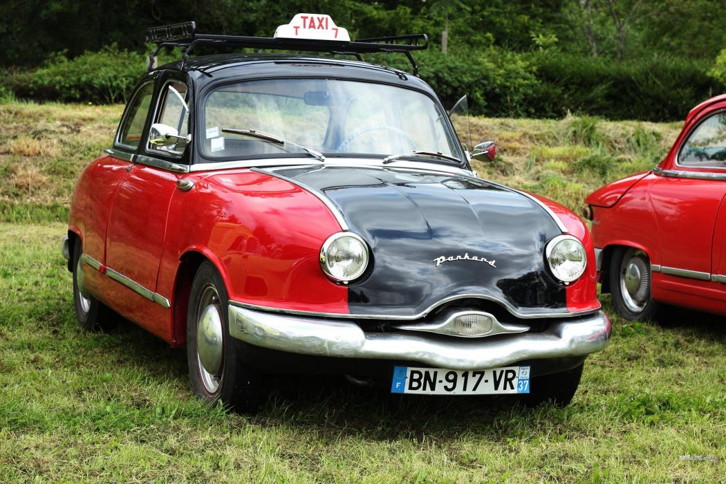Panhard dyna z classic french taxi cab wallpaper