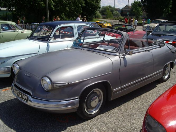 Panhard pl17 cars classic french convertible wallpaper