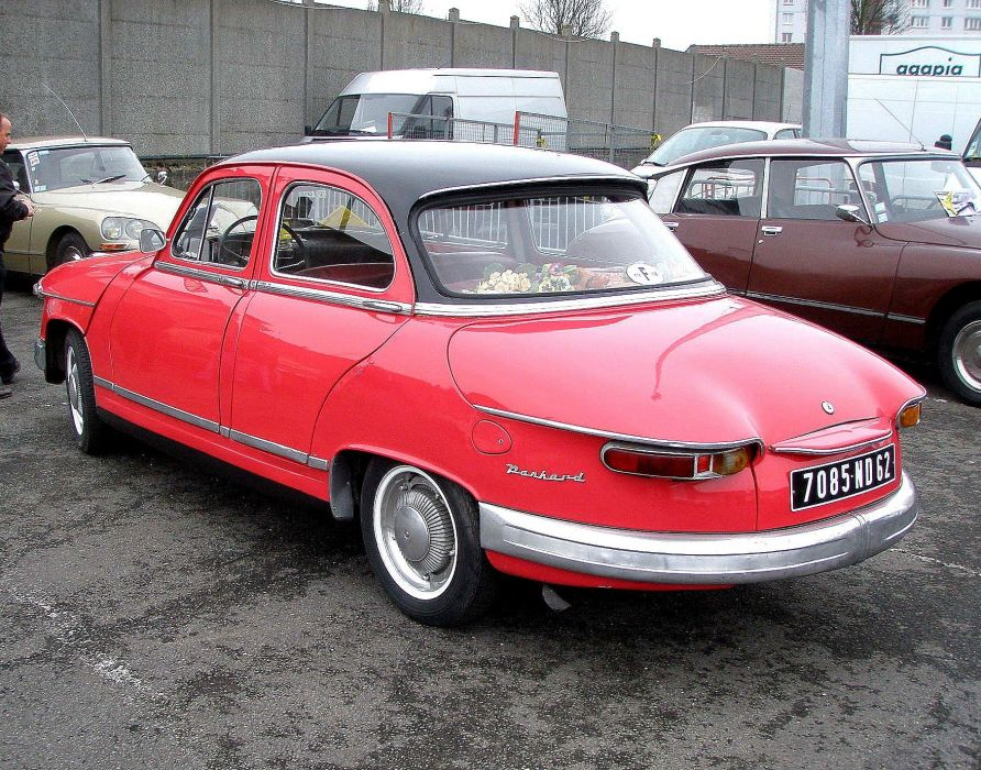 Panhard pl17 cars classic french wallpaper