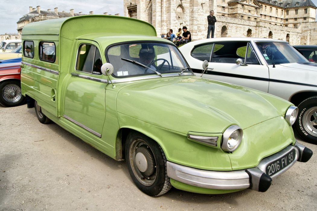 Panhard pl17 cars classic french van camionnette wallpaper