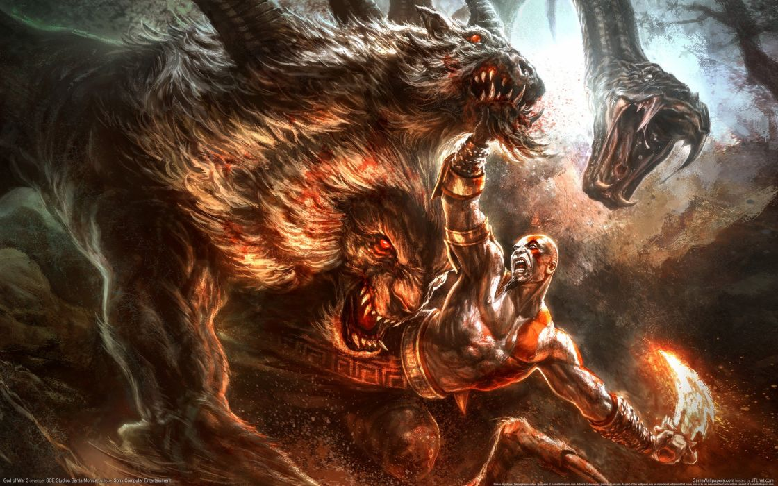 GOD OF WAR fighting warrior action adventure godwar fantasy wallpaper