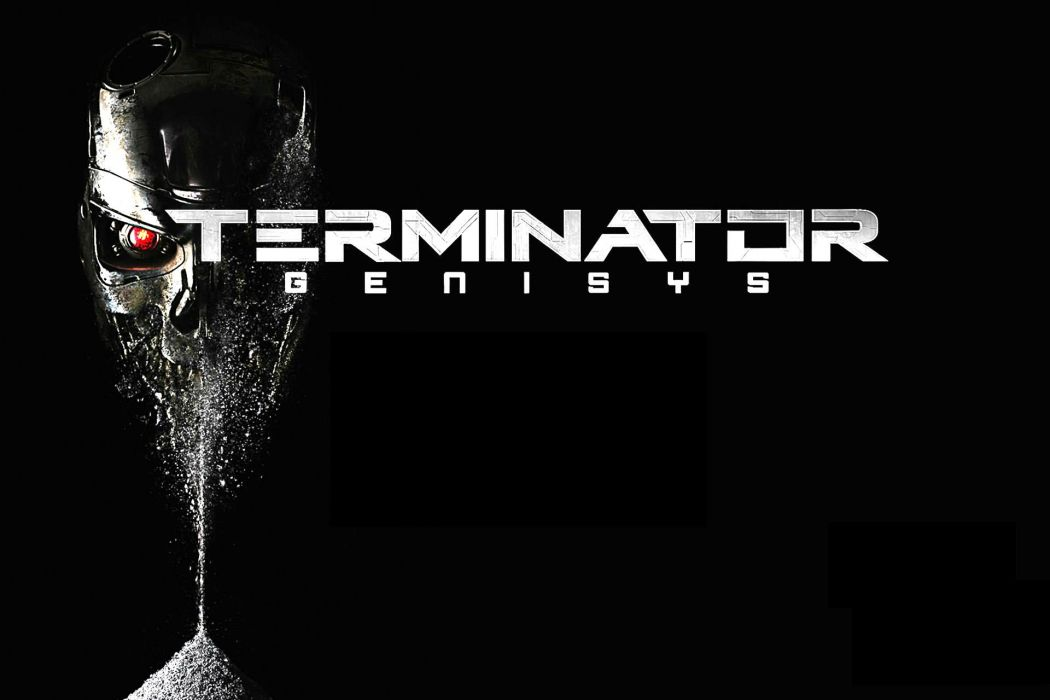 TERMINATOR GENISYS sci-fi acction skull robot cyborg wallpaper