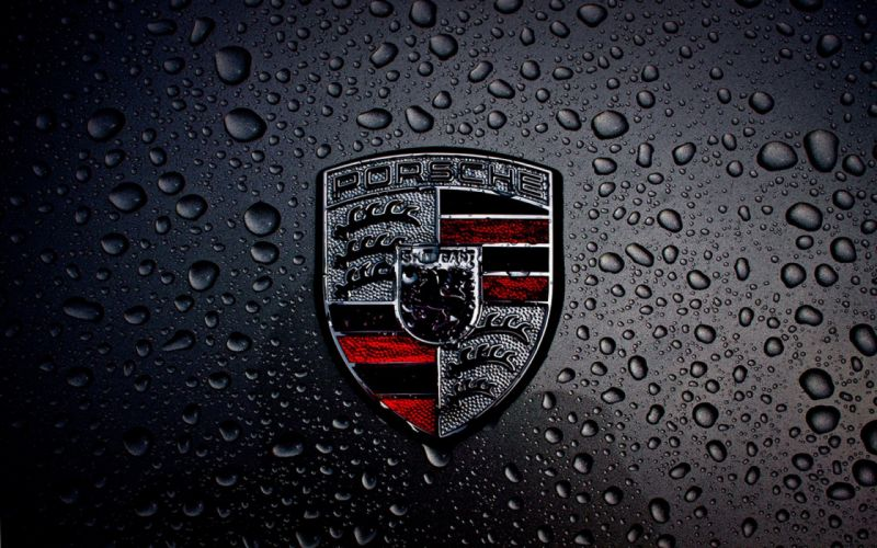 Dark-Porsche-Logo wallpaper