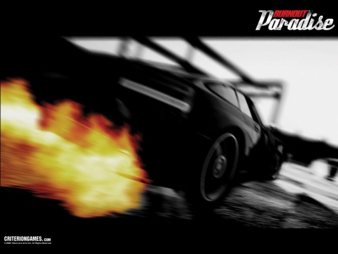 BURNOUT PARADISE racing action race game video poster wallpaper