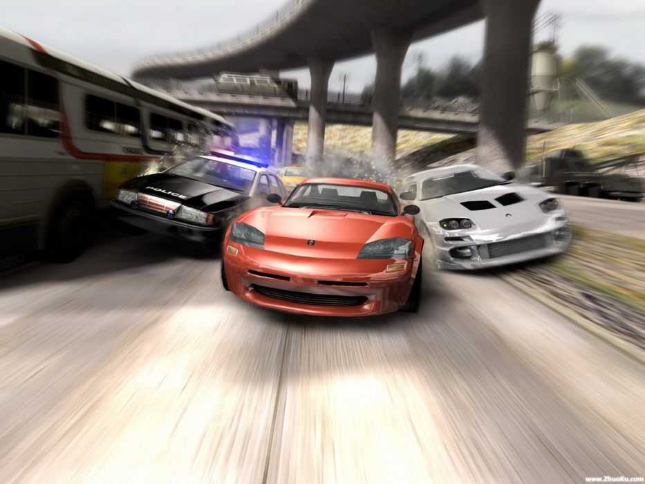 BURNOUT PARADISE racing action race game video wallpaper