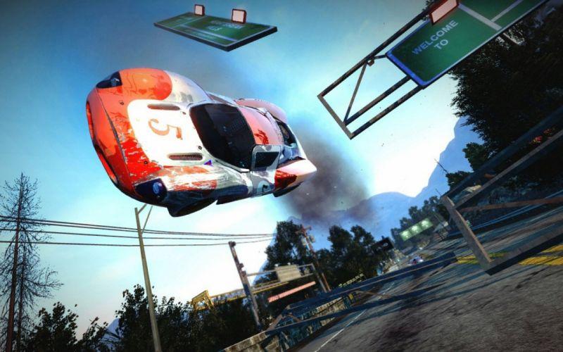 BURNOUT PARADISE racing action race game video wallpaper