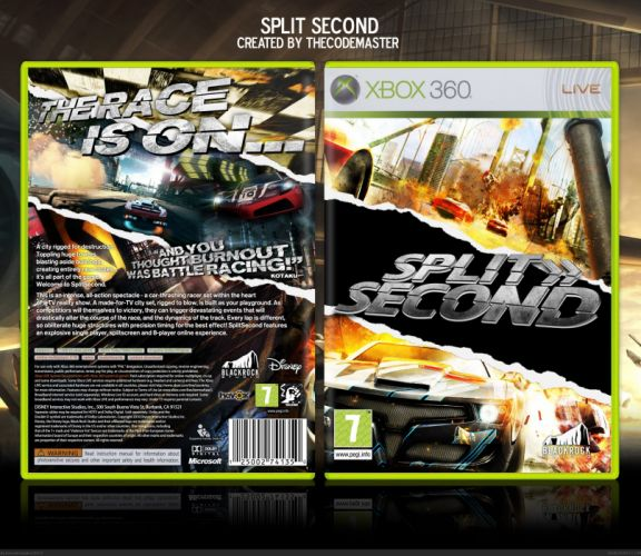 SPLIT SECOND action racing race video game arcade splitsecond velocity disney poster wallpaper