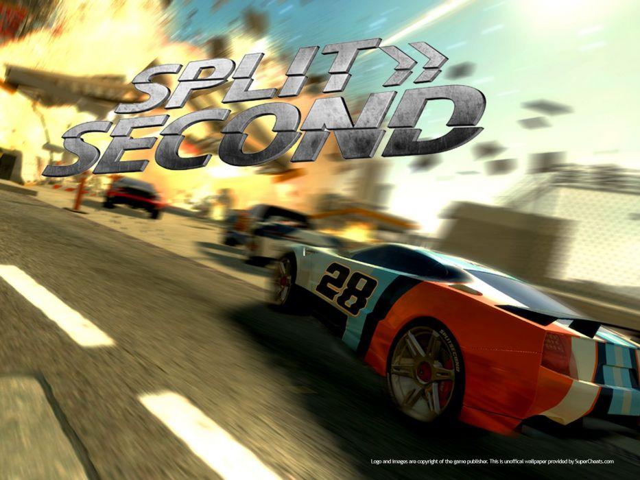 SPLIT SECOND action racing race video game arcade splitsecond velocity disney poster wallpaper