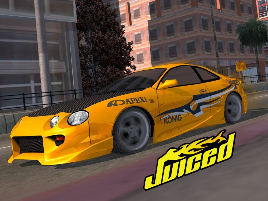 JUICED drift tuning race racing action arcade poster wallpaper
