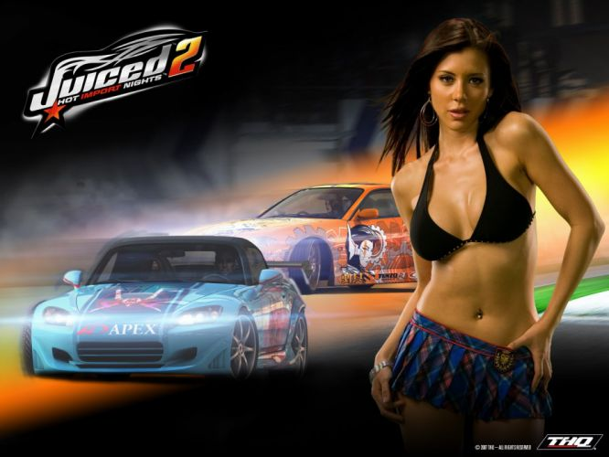 JUICED drift tuning race racing action arcade sexy babe poster wallpaper