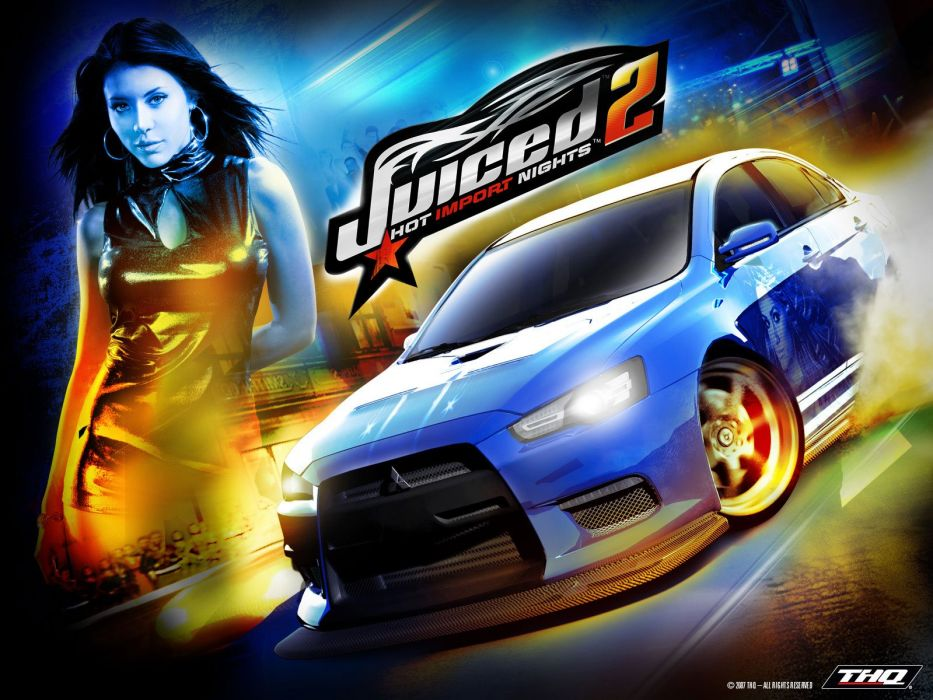 JUICED drift tuning race racing action arcade poster sexy babe poster wallpaper