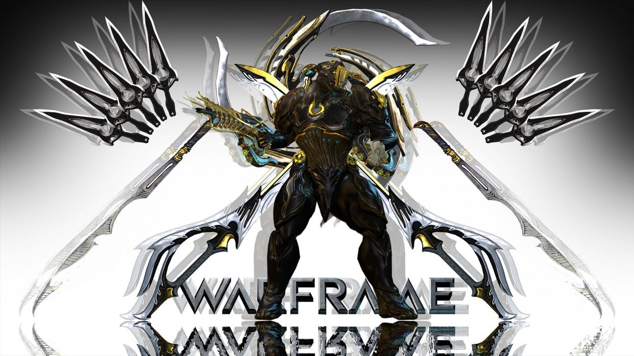 WARFRAME warrior shooter robot cyborg online fighting sci-fi poster wallpaper