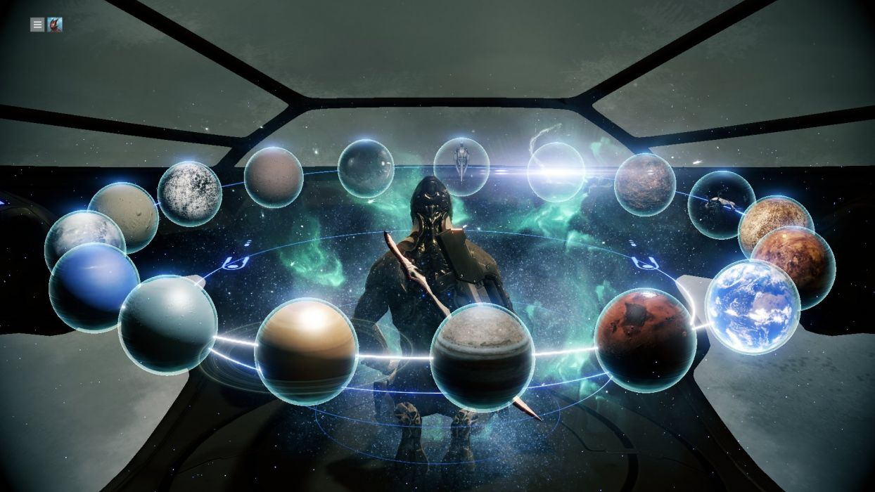 WARFRAME warrior shooter robot cyborg online fighting sci-fi poster space planet wallpaper