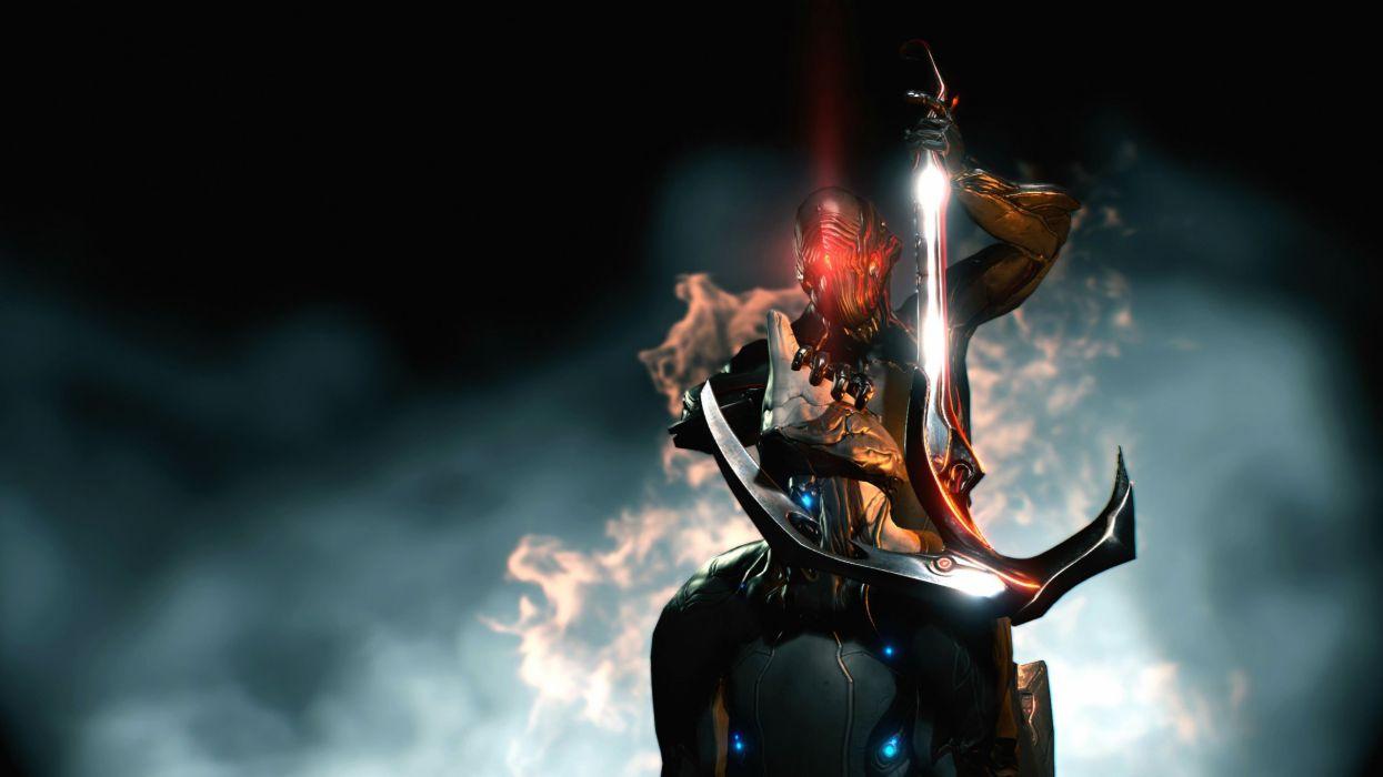WARFRAME Warrior Shooter Robot Cyborg Online Fighting Sci Fi Wallpaper