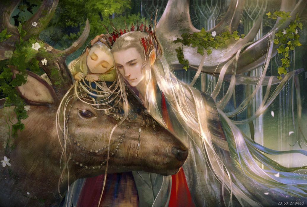 movie fantasy the+hobbit lord+of+the+rings legolas long hair animal flower wallpaper