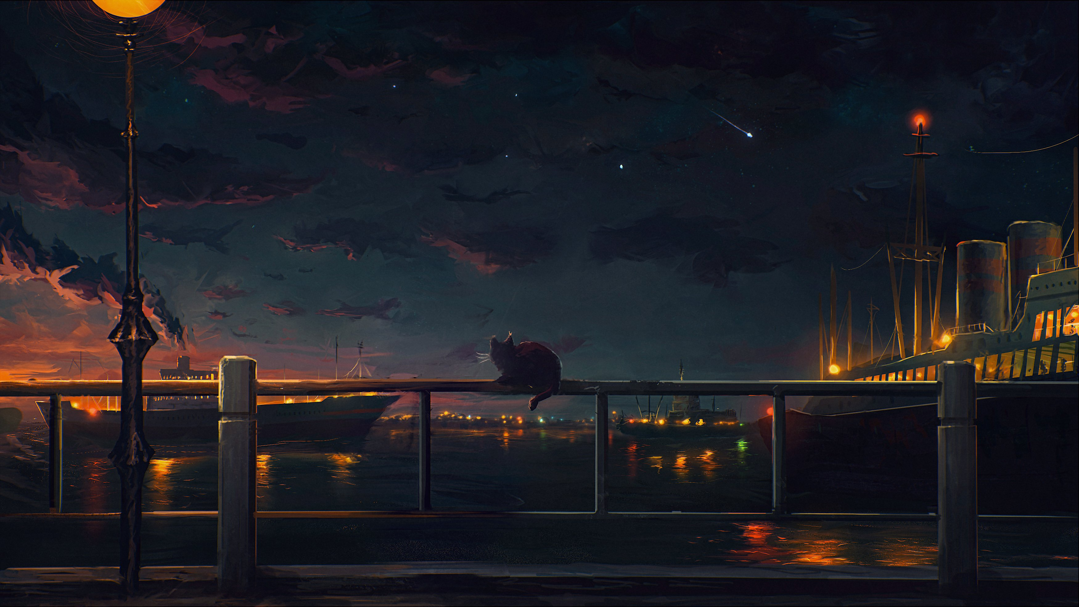 anime scenery city images