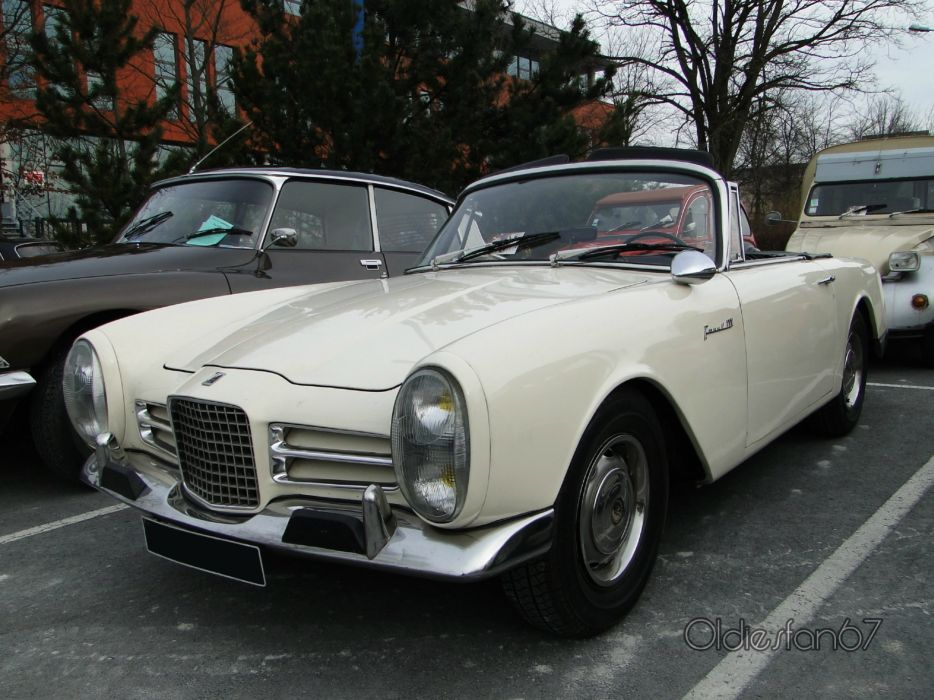 cars classic FV3 Facel-Vega french convertible wallpaper