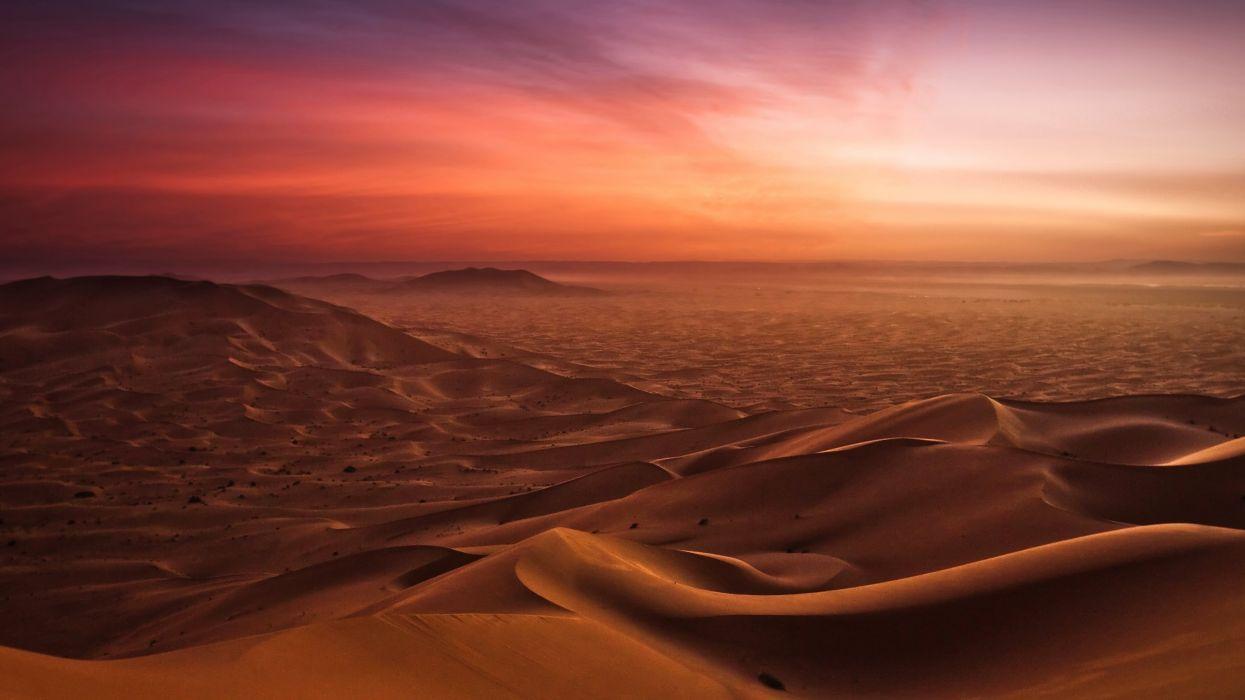 desert sunset nature sand wallpaper