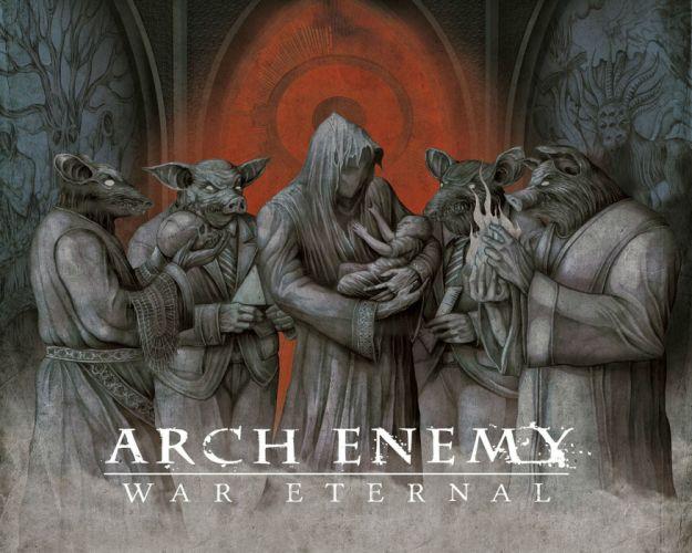 ARCH ENEMY death metal heavy progressive thrash poster dark occult satanic evil wallpaper