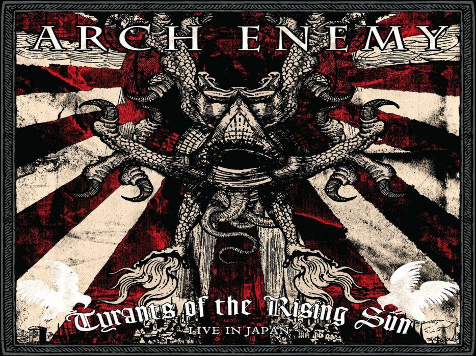 ARCH ENEMY death metal heavy progressive thrash poster dark skull occult evil satanic wallpaper