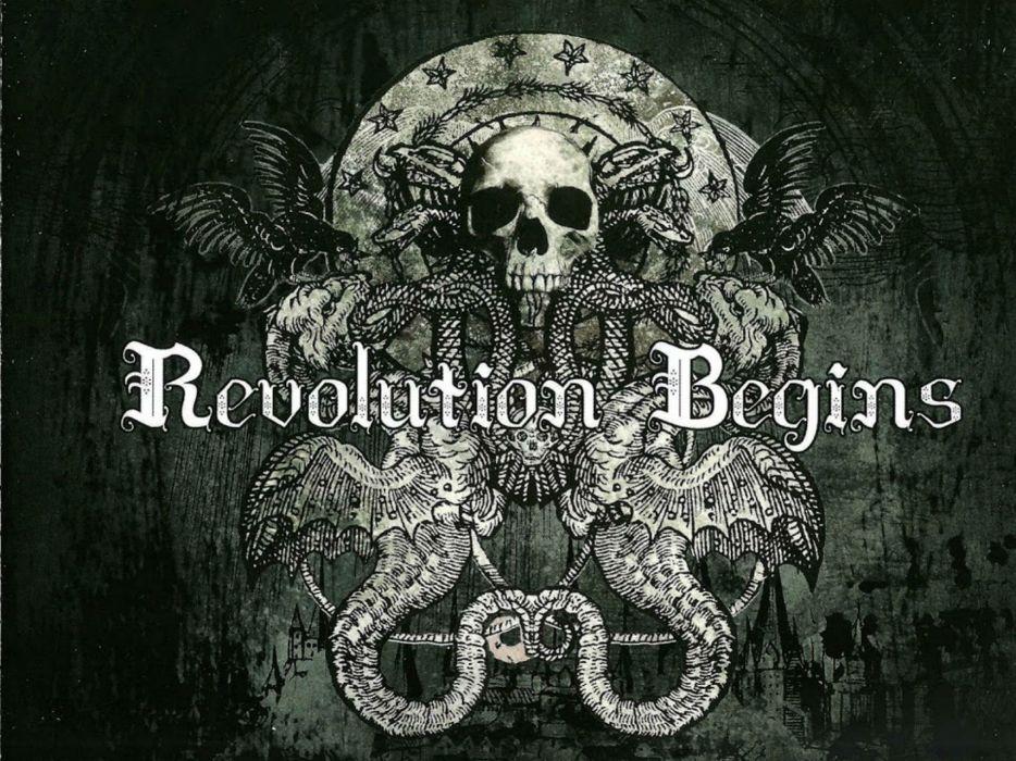 ARCH ENEMY death metal heavy progressive thrash poster dark occult evil skull wallpaper