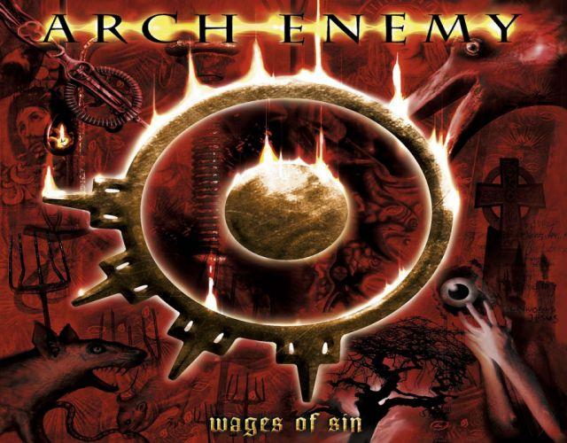 ARCH ENEMY death metal heavy progressive thrash poster dark evil fire wallpaper