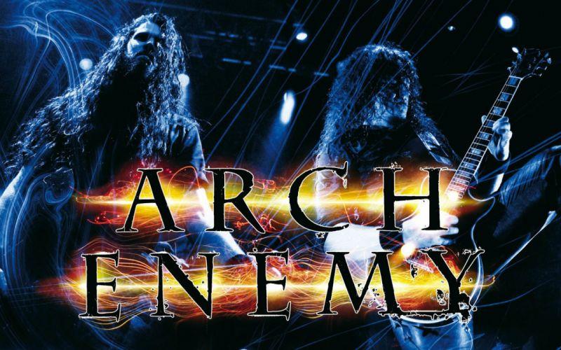 ARCH ENEMY death metal heavy progressive thrash poster concert guitar wallpaper