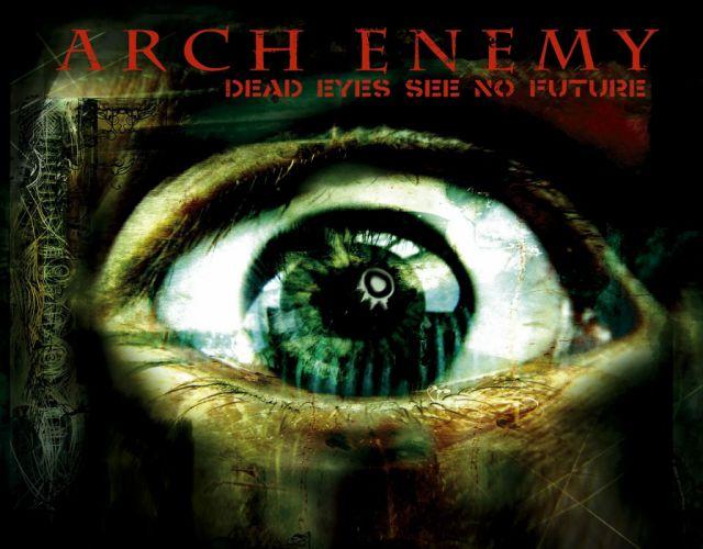 ARCH ENEMY death metal heavy progressive thrash poster dark eye occult evil satanic wallpaper